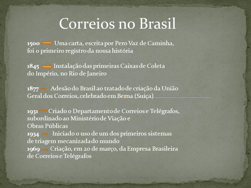 Correios no Brasil 1500 Uma carta, escrita por Pero Vaz de Caminha,