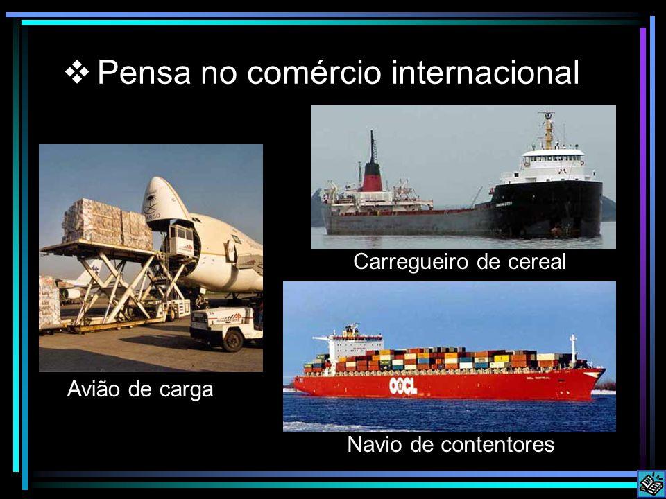 Pensa no comércio internacional