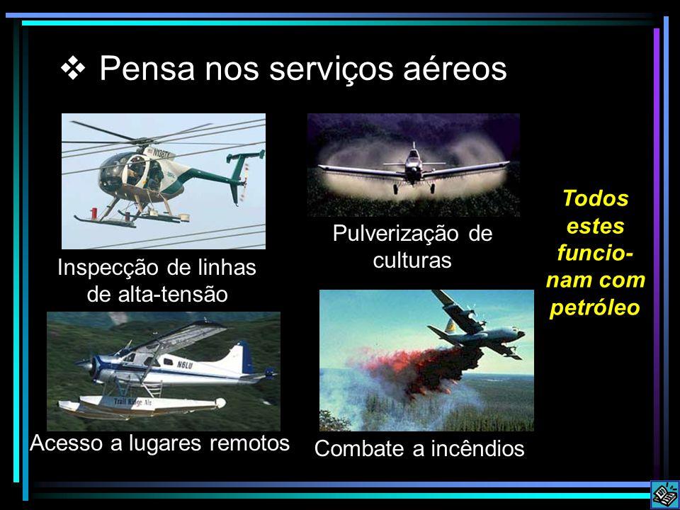 Pensa nos serviços aéreos