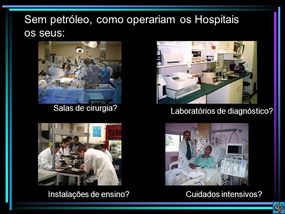 Sem petróleo, como operariam os Hospitais os seus: