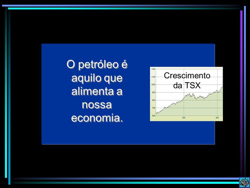 O petróleo é aquilo que alimenta a nossa economia.
