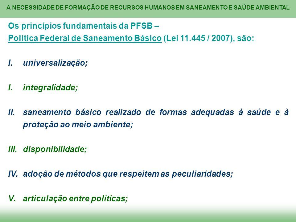 Os princípios fundamentais da PFSB –