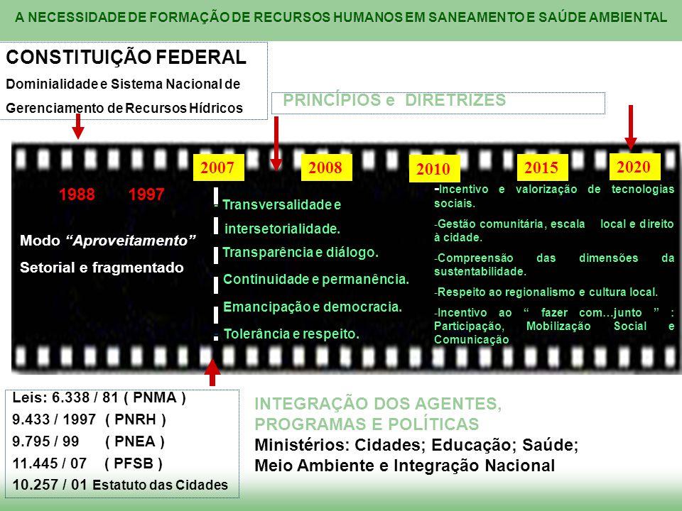 CONSTITUIÇÃO FEDERAL PRINCÍPIOS e DIRETRIZES 2007 2008 2010 2015 2020