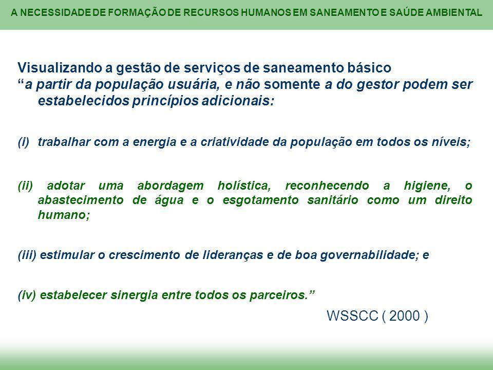 Visualizando a gestão de serviços de saneamento básico