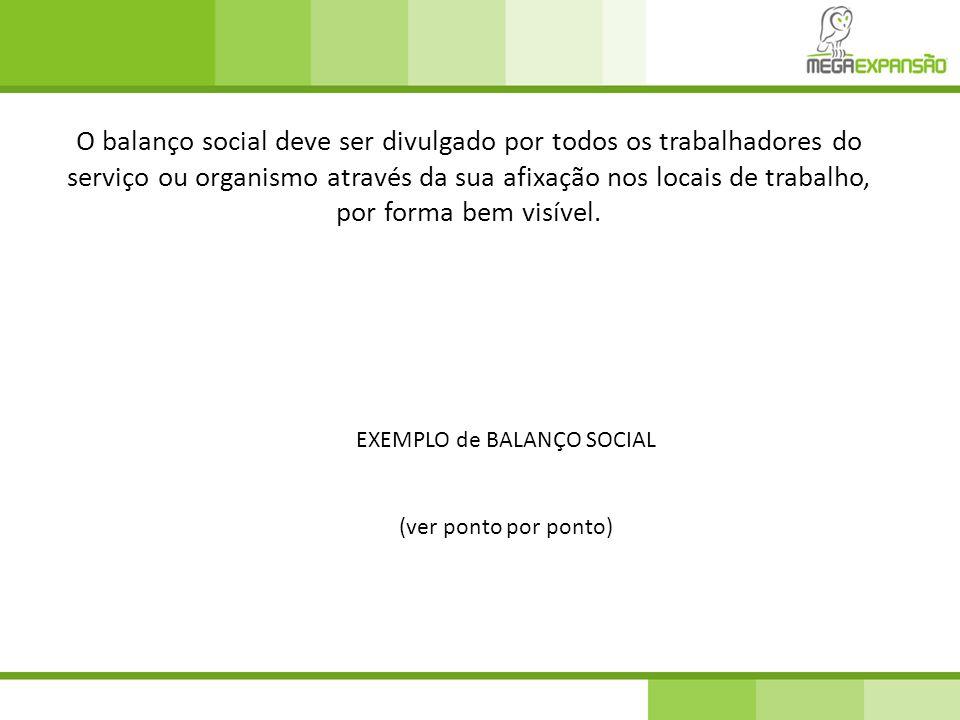 EXEMPLO de BALANÇO SOCIAL