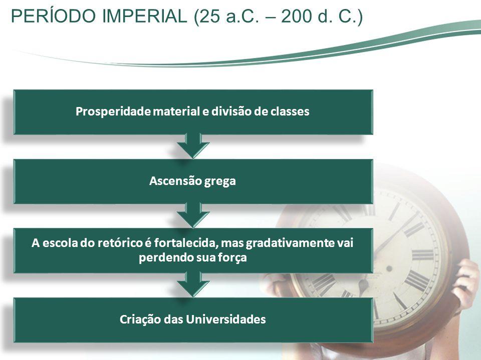 Criação das Universidades Prosperidade material e divisão de classes