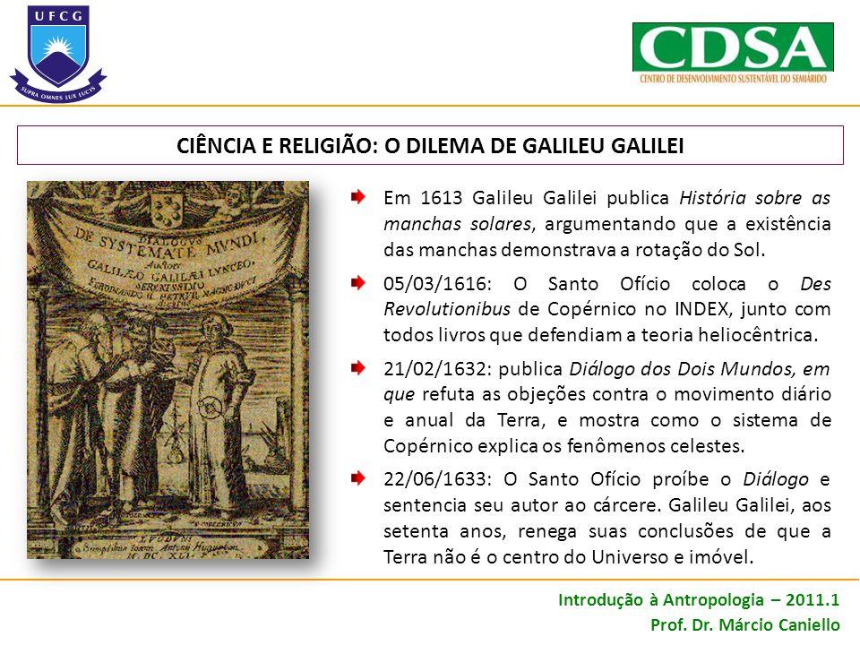 CIÊNCIA E RELIGIÃO: O DILEMA DE GALILEU GALILEI
