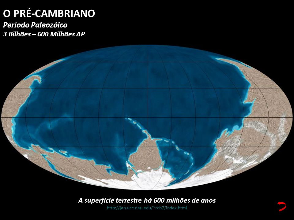 A superfície terrestre há 600 milhões de anos