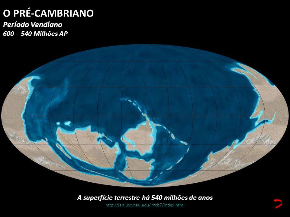 A superfície terrestre há 540 milhões de anos