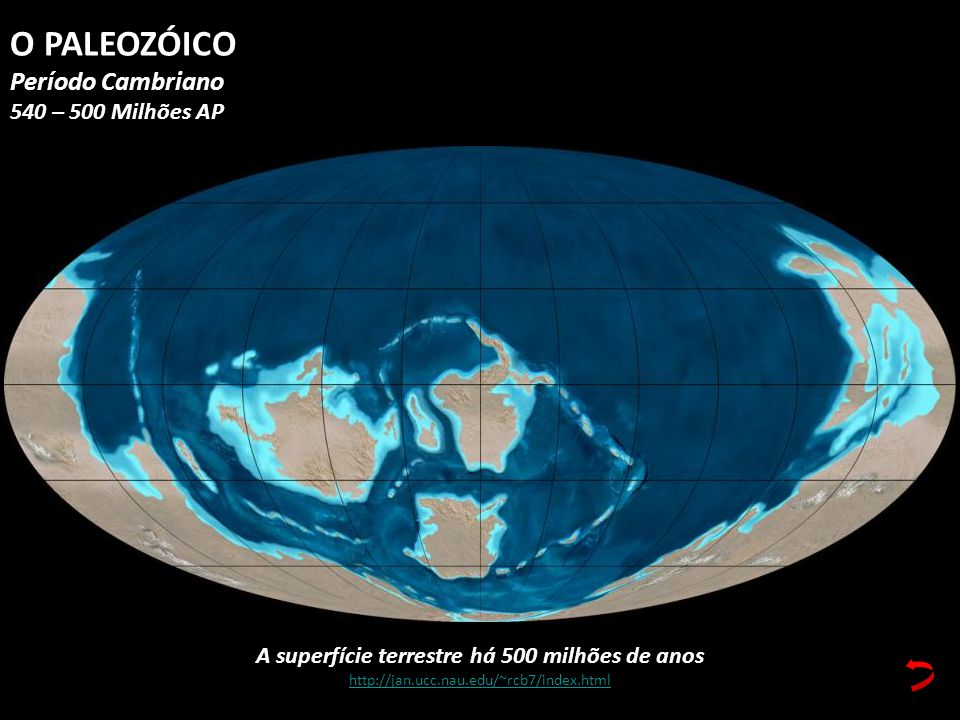 A superfície terrestre há 500 milhões de anos