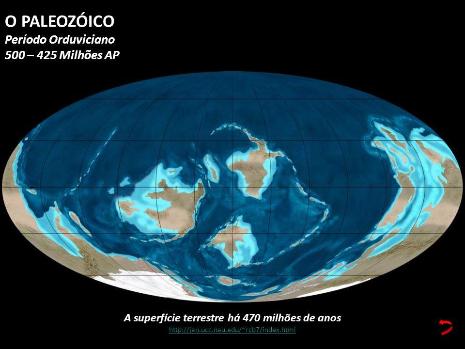 A superfície terrestre há 470 milhões de anos