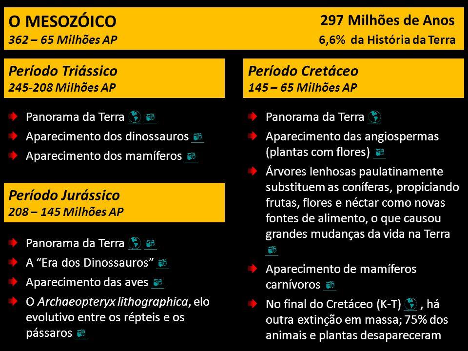 O MESOZÓICO 297 Milhões de Anos Período Triássico Período Cretáceo