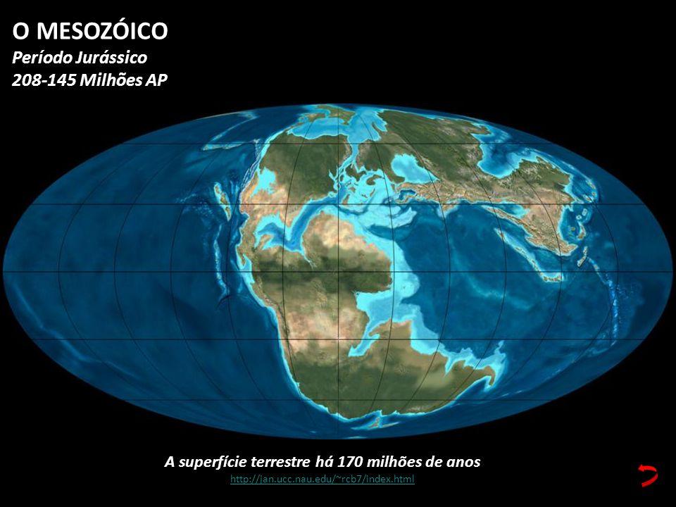 A superfície terrestre há 170 milhões de anos