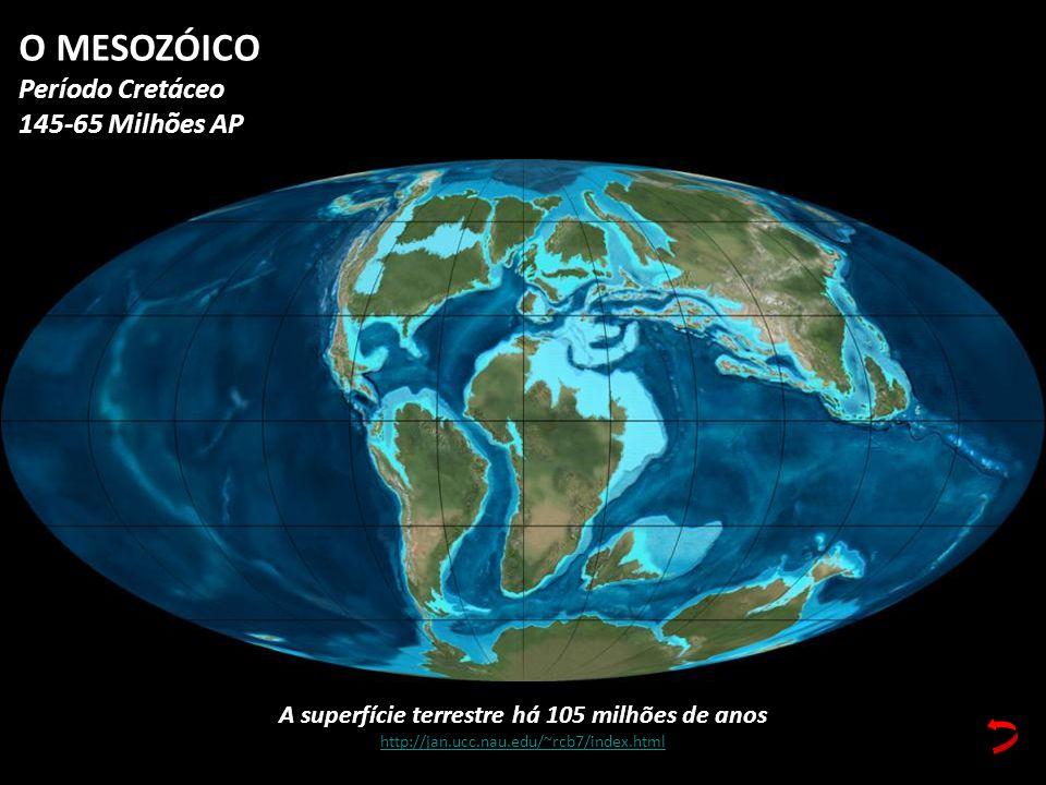 A superfície terrestre há 105 milhões de anos