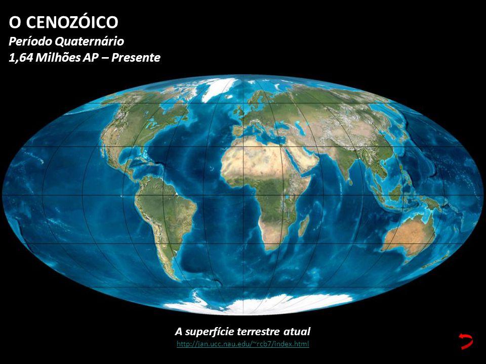 A superfície terrestre atual