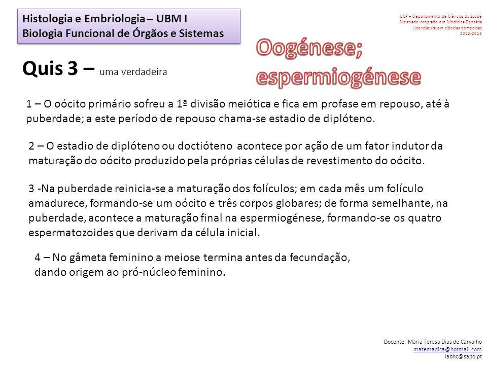 Oogénese; espermiogénese