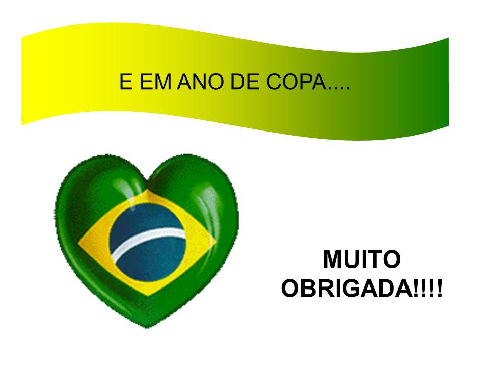 E EM ANO DE COPA.... MUITO OBRIGADA!!!!