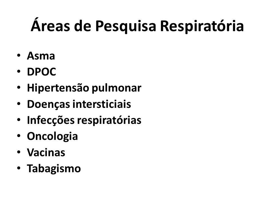 Áreas de Pesquisa Respiratória