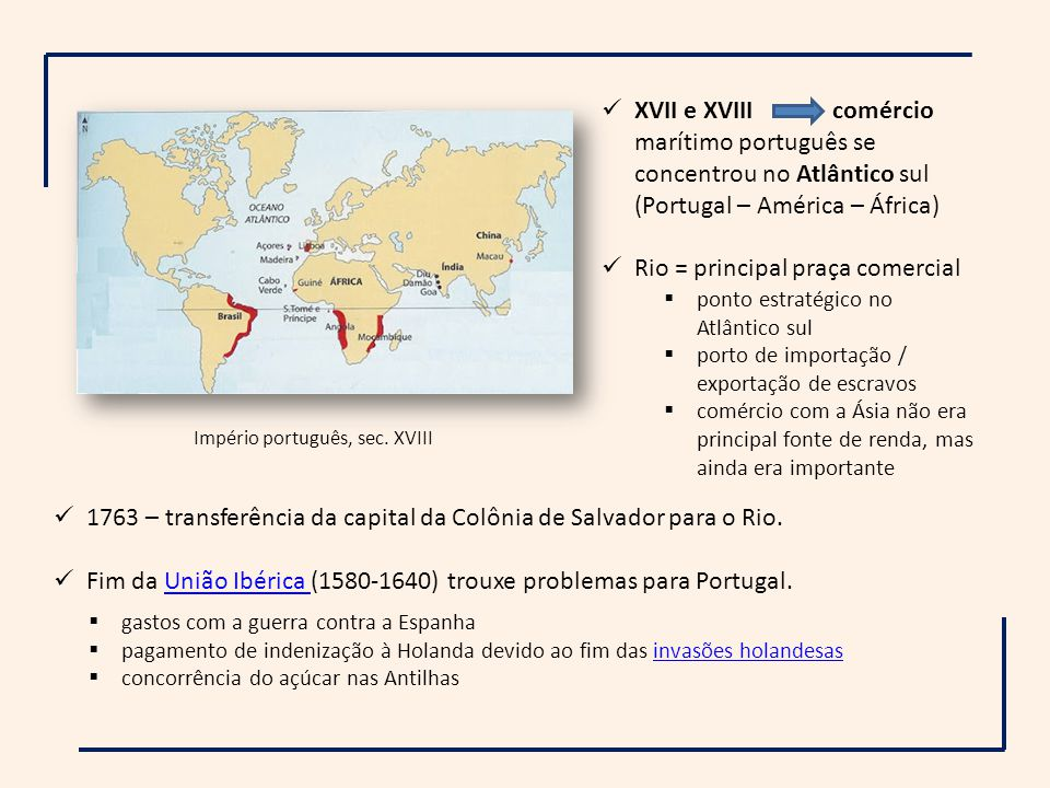 Império português, sec. XVIII
