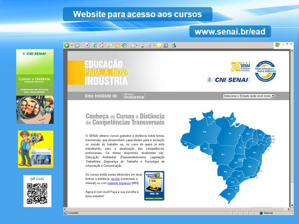 Website para acesso aos cursos
