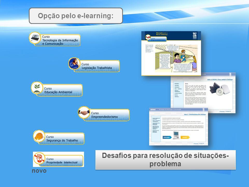 Opção pelo e-learning: Desafios para resolução de situações-problema