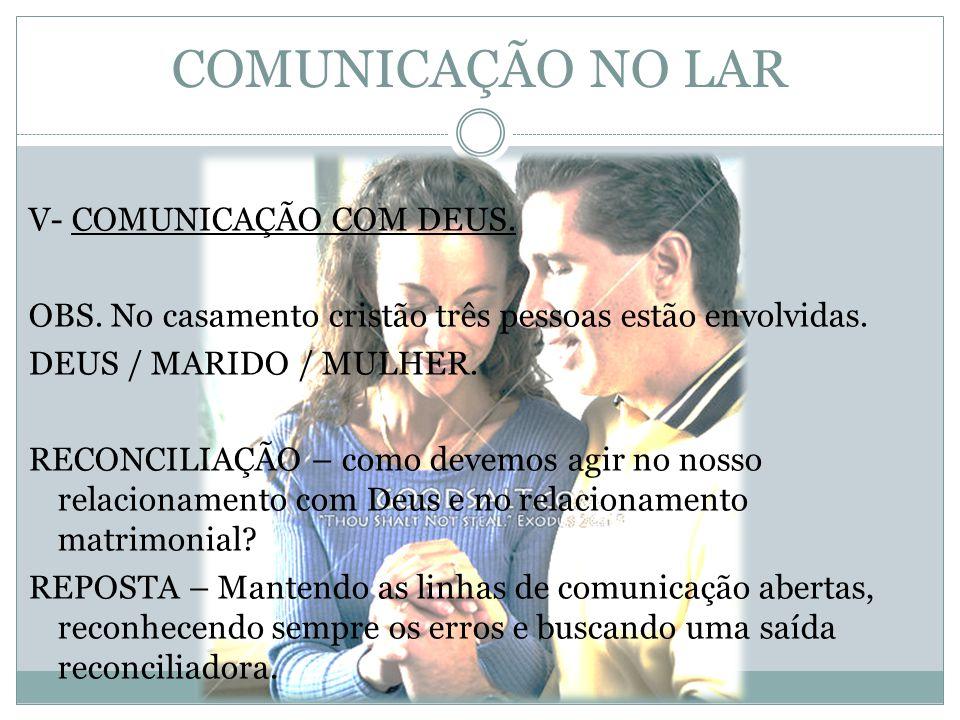 COMUNICAÇÃO NO LAR