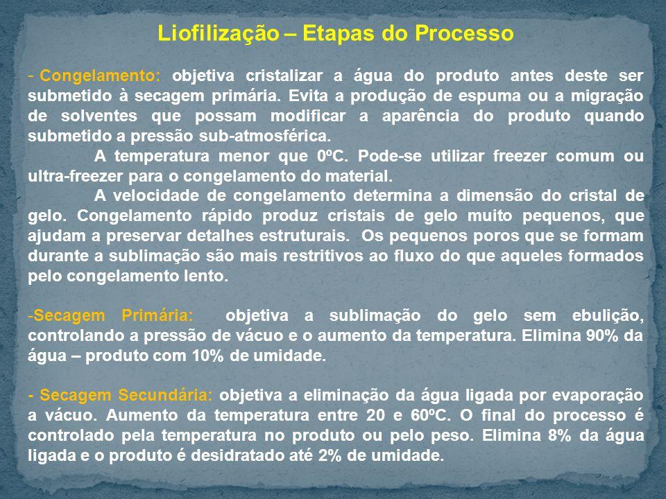 Liofilização – Etapas do Processo