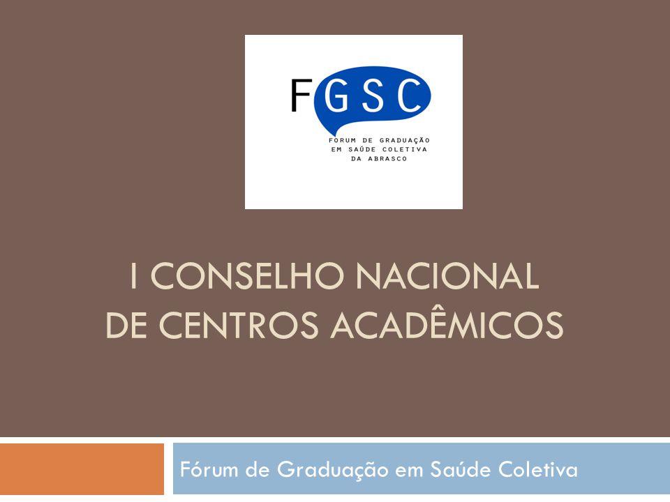 I Conselho nacional de centros acadêmicoS