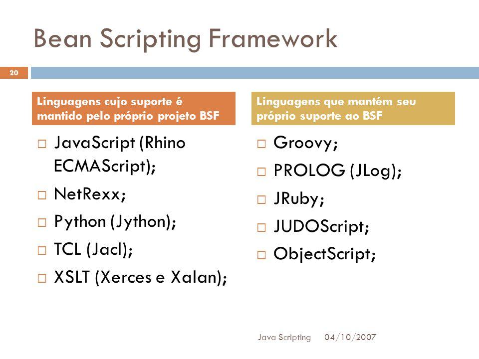 Bean Scripting Framework