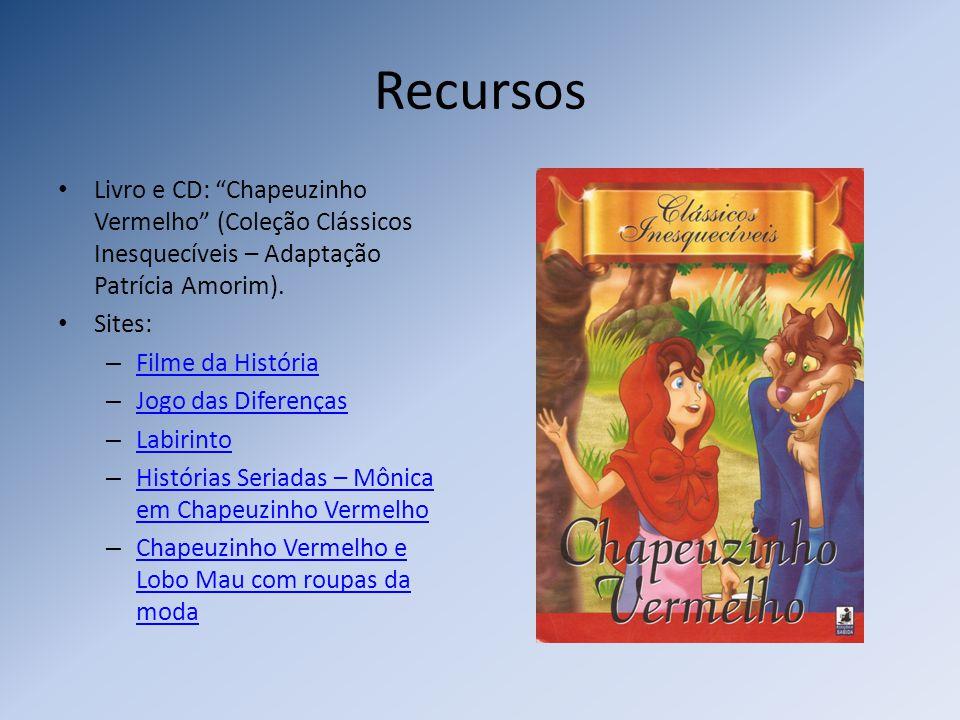 Recursos Livro e CD: Chapeuzinho Vermelho (Coleção Clássicos Inesquecíveis – Adaptação Patrícia Amorim).
