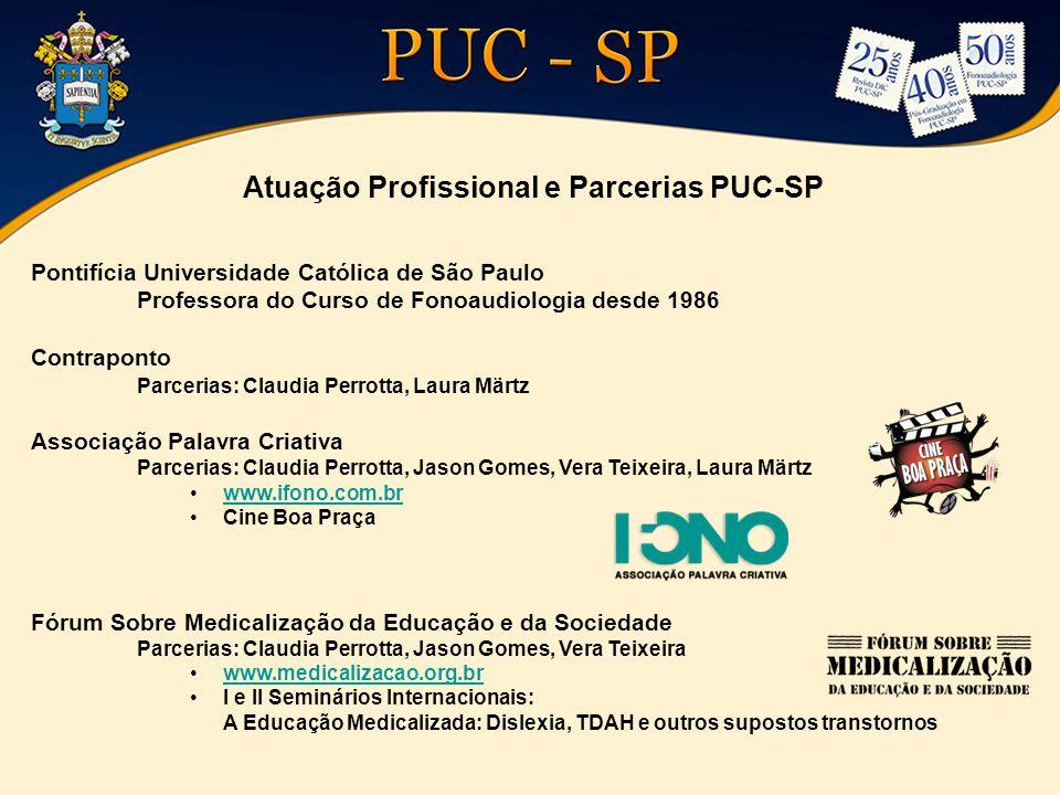 Atuação Profissional e Parcerias PUC-SP