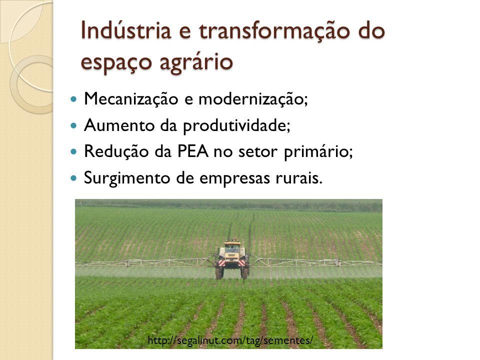 Indústria e transformação do espaço agrário