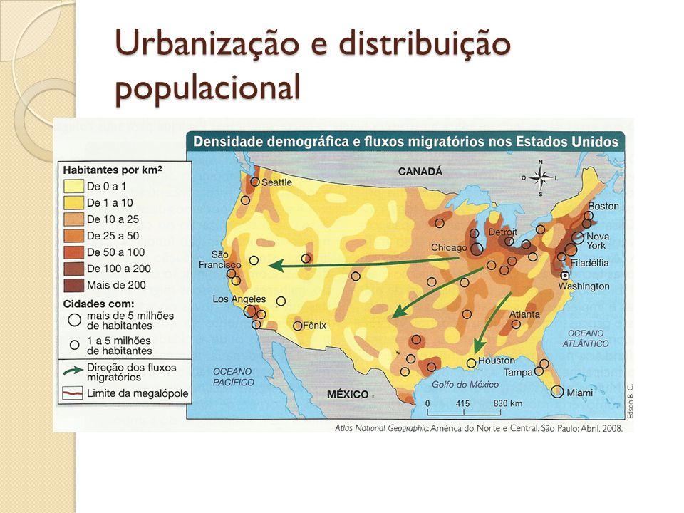 Urbanização e distribuição populacional