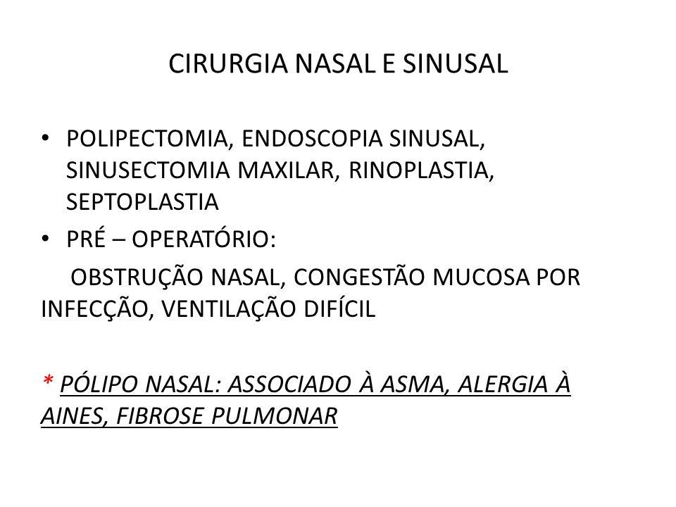CIRURGIA NASAL E SINUSAL