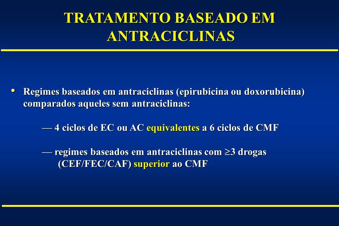 TRATAMENTO BASEADO EM ANTRACICLINAS