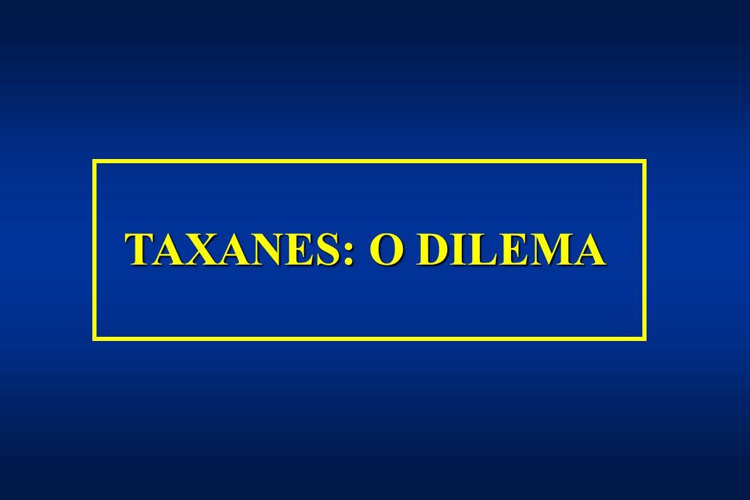 TAXANES: O DILEMA