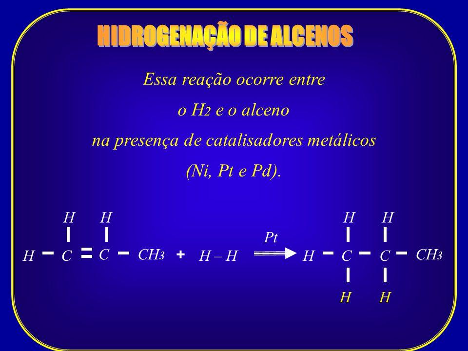 HIDROGENAÇÃO DE ALCENOS