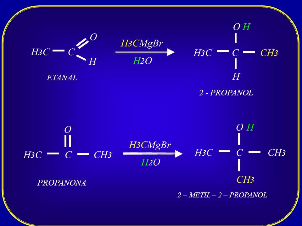 O H O H3CMgBr H3C C H3C C CH3 H H2O H O H O H3CMgBr H3C C CH3 H3C C