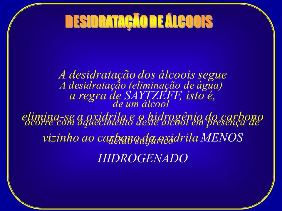 DESIDRATAÇÃO DE ÁLCOOIS