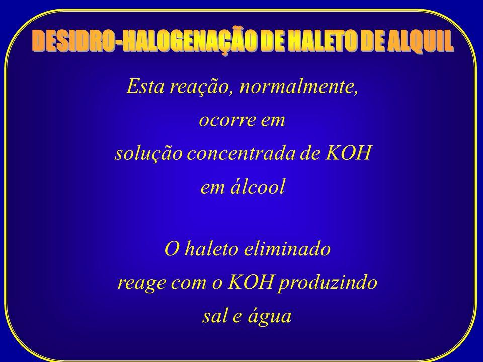 DESIDRO-HALOGENAÇÃO DE HALETO DE ALQUIL