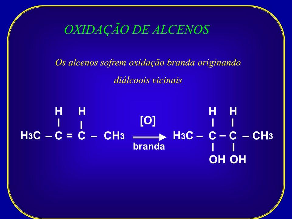 Os alcenos sofrem oxidação branda originando