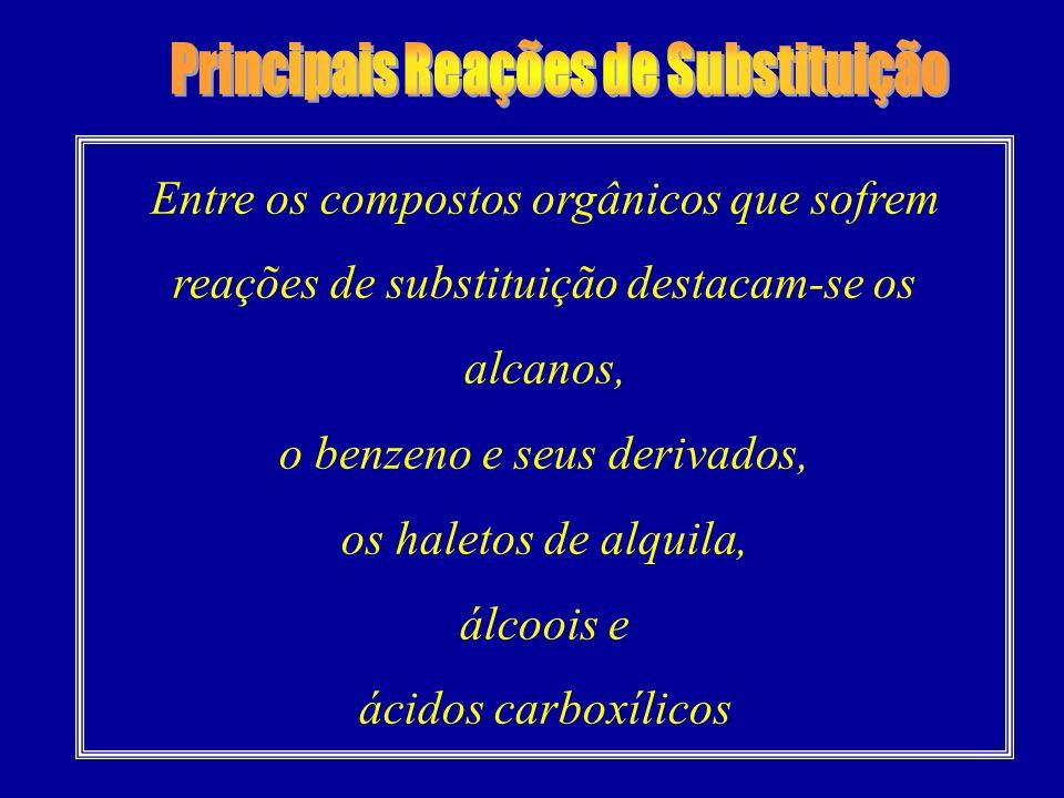 Principais Reações de Substituição