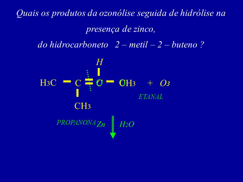 do hidrocarboneto 2 – metil – 2 – buteno