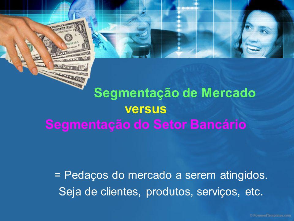 Segmentação de Mercado versus Segmentação do Setor Bancário