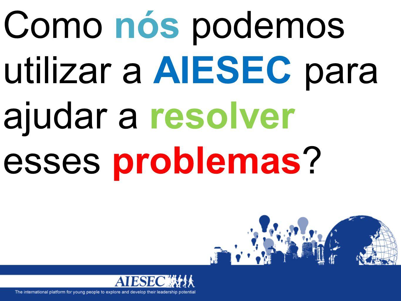 Como nós podemos utilizar a AIESEC para ajudar a resolver esses problemas
