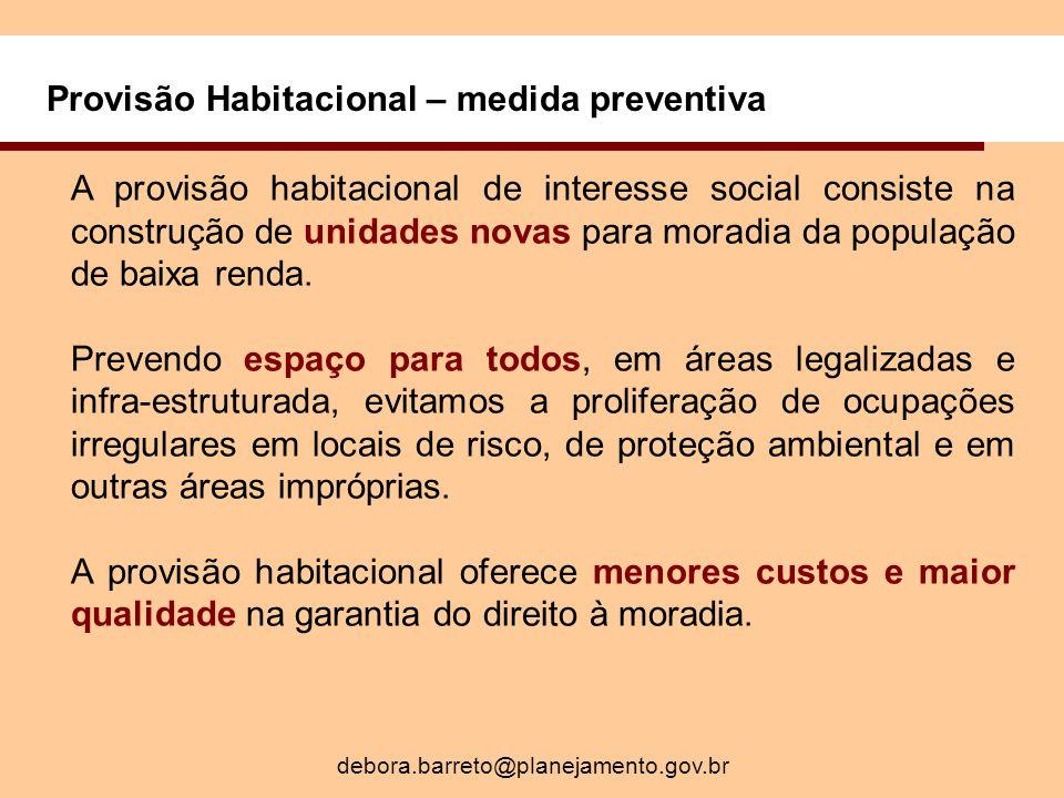 Provisão Habitacional – medida preventiva