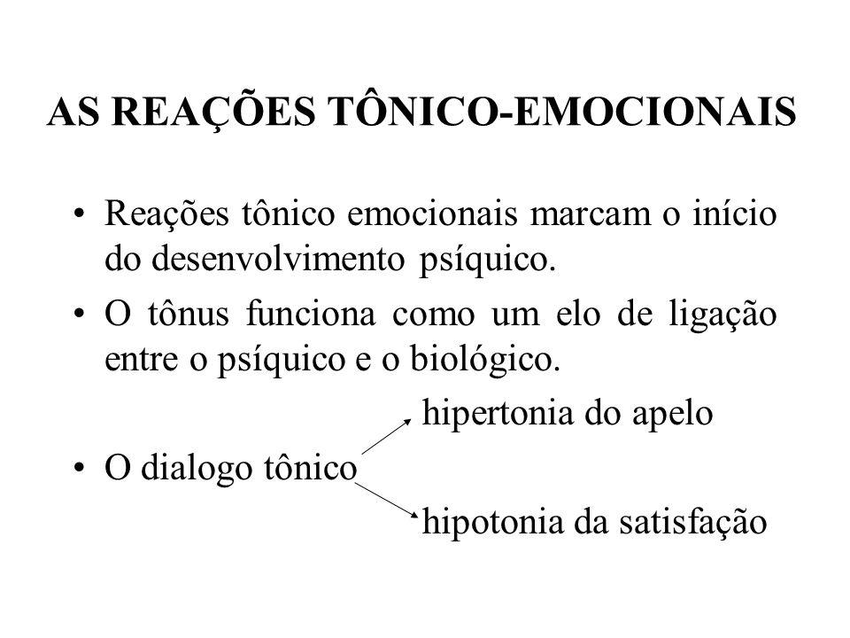 AS REAÇÕES TÔNICO-EMOCIONAIS