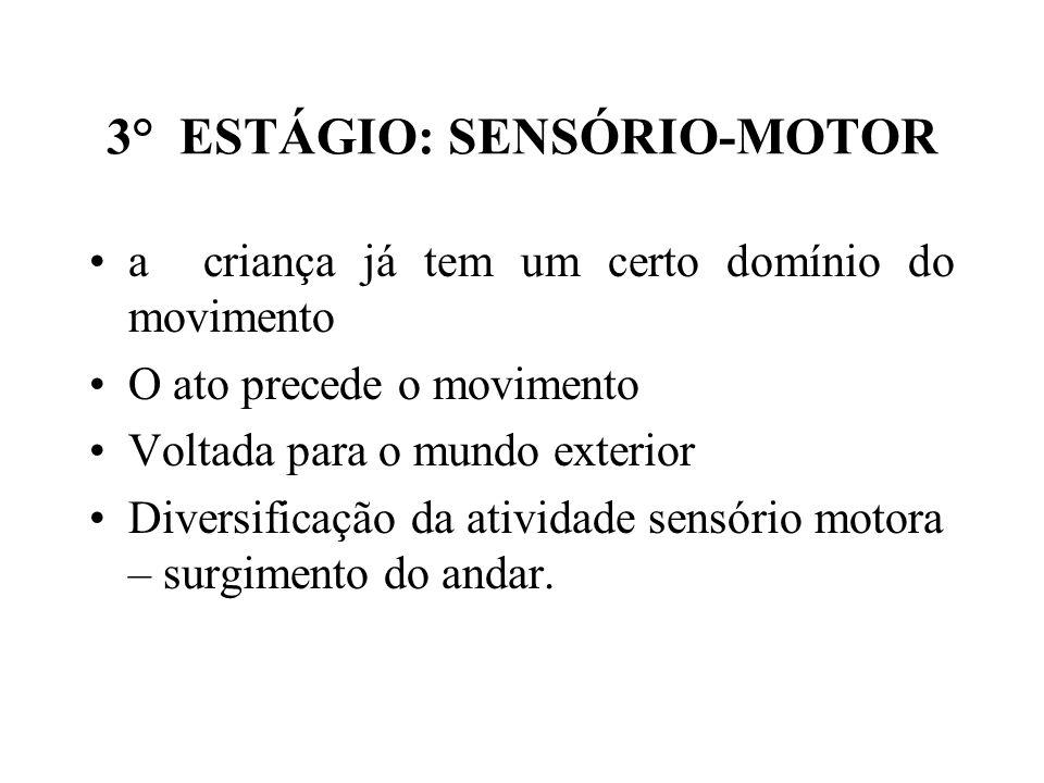 3° ESTÁGIO: SENSÓRIO-MOTOR