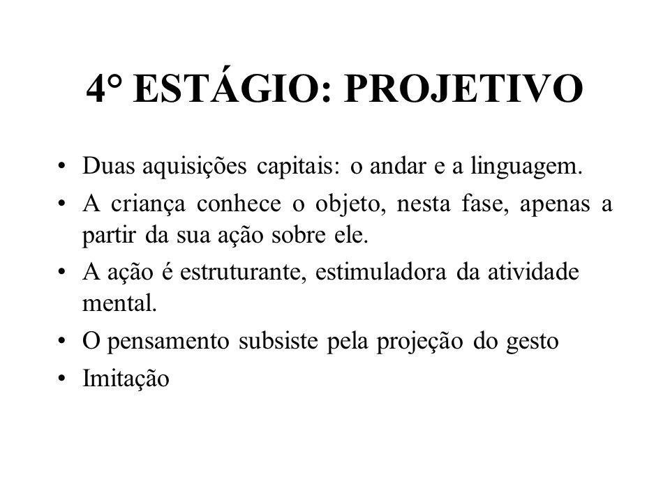 4° ESTÁGIO: PROJETIVO Duas aquisições capitais: o andar e a linguagem.