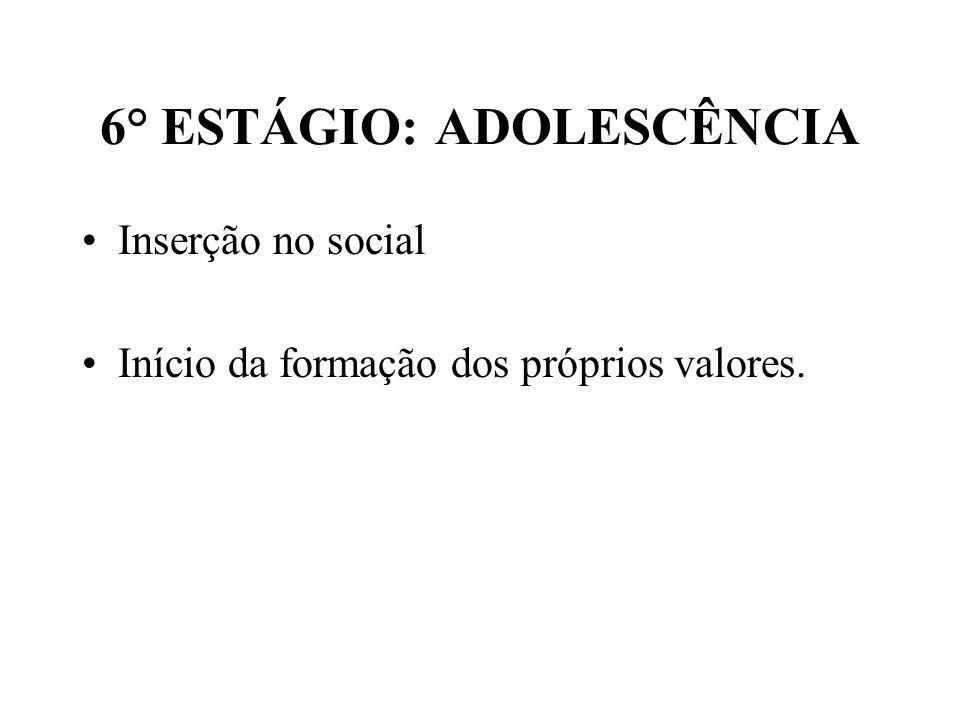 6° ESTÁGIO: ADOLESCÊNCIA